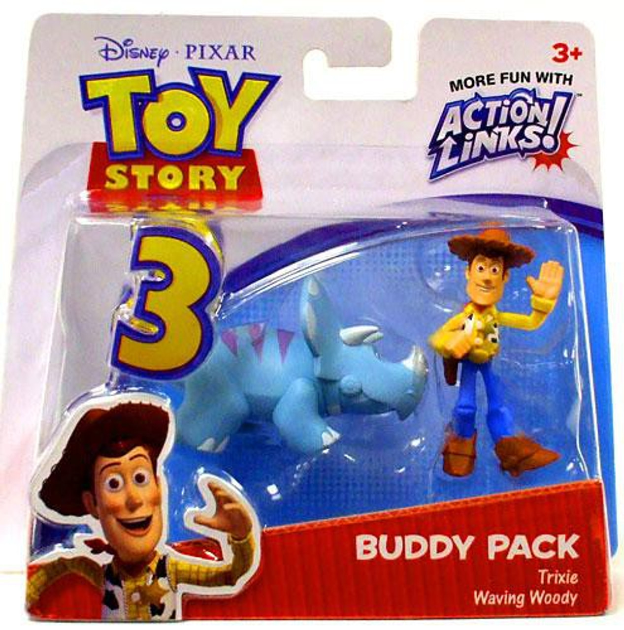Toy Story 3 Action Links Buddy Pack Trixie   Waving Woody Mini Figure 2-Pack 829bcc45d61