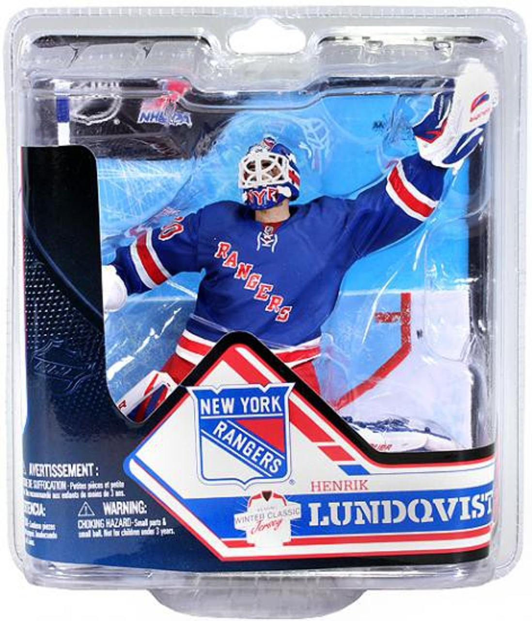 best sneakers 18119 a11ac McFarlane Toys NHL New York Rangers Sports Picks Series 32 Henrik Lundqvist  Action Figure [Blue Jersey]
