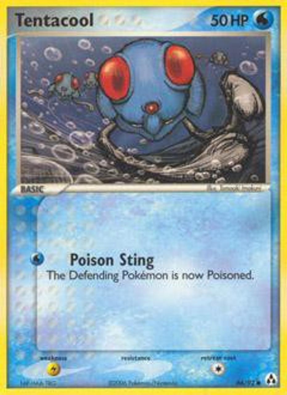 Pokemon Fossil Common Card #56 Tentacool