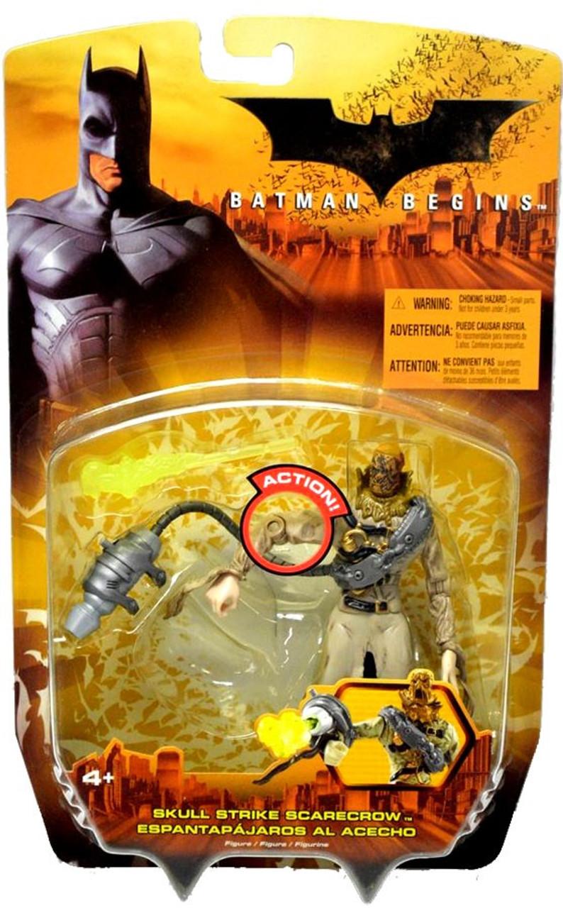 Batman Begins Skull Strike Scarecrow Action Figure NEW