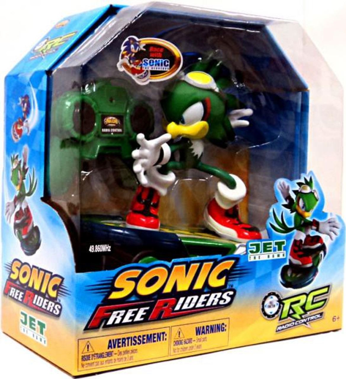 Sonic The Hedgehog Free Riders Jet The Hawk Rc Figure Nkok Toywiz