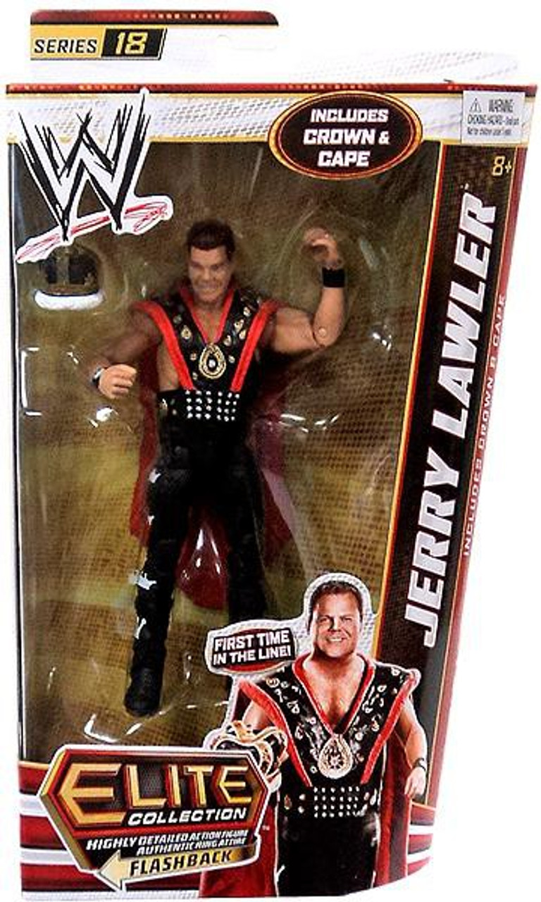 WWE WWF Signed JERRY THE KING LAWLER Autographed WWE Elite Wrestling Figure