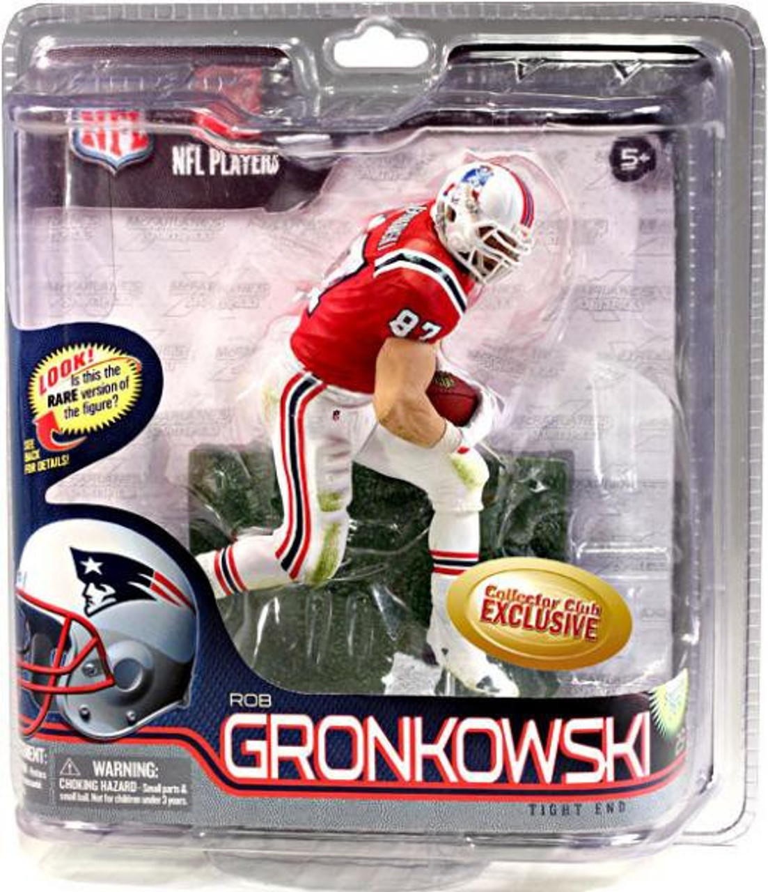 a46aa80e6 McFarlane Toys NFL New England Patriots Sports Picks Collectors Club Rob  Gronkowski Exclusive Action Figure Retro Red Jersey - ToyWiz