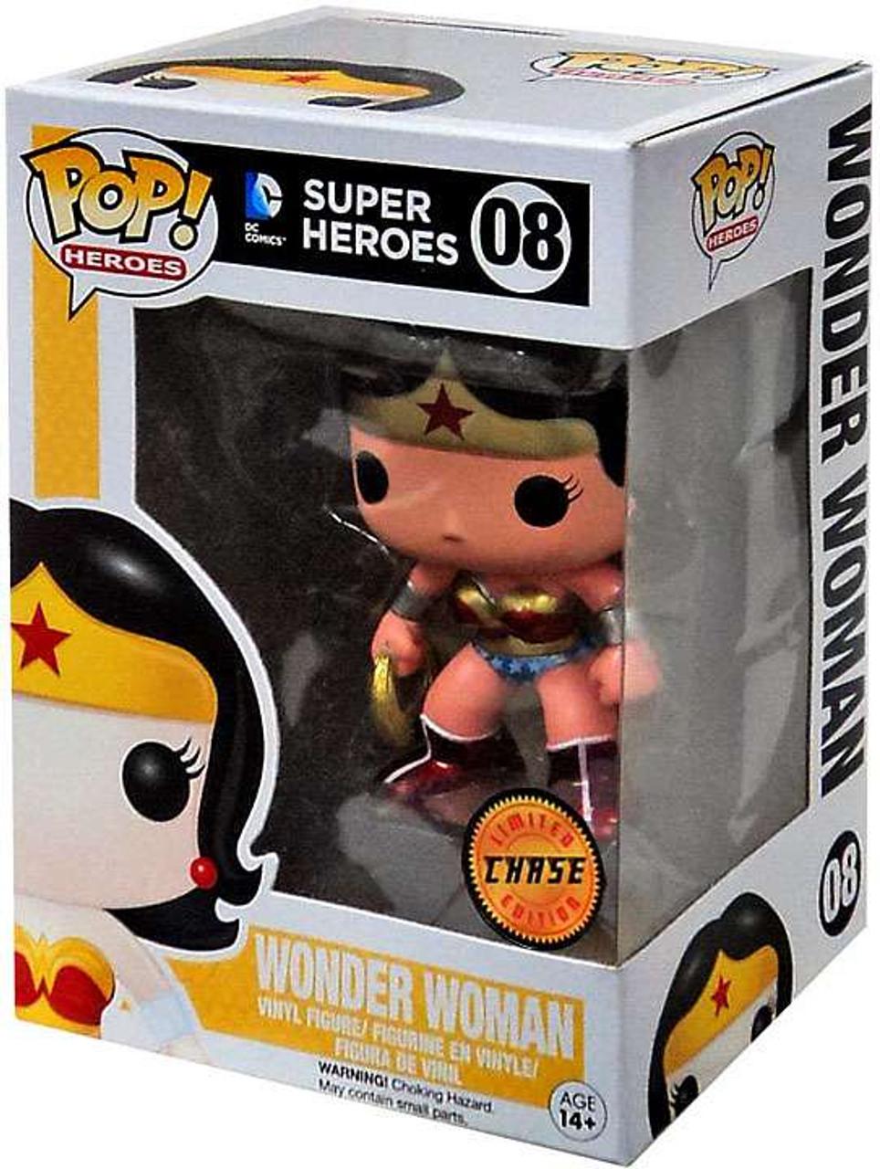 c8d879cb748 Funko DC Universe Funko POP Heroes Wonder Woman Vinyl Figure 08 Metallic  Chase Version - ToyWiz