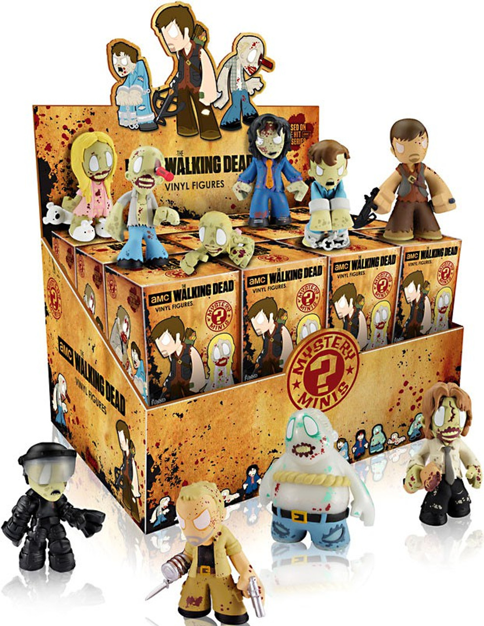 Brand New Full Case Of 12 x The Walking Dead Mystery Minis Funko