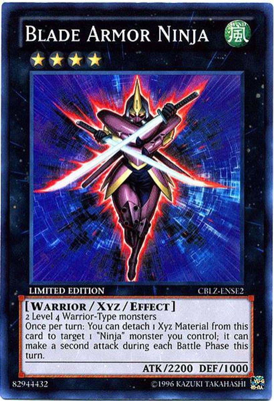 YuGiOh Cosmo Blazer Special Edition Super Rare Blade Armor Ninja CBLZ-ENSE2