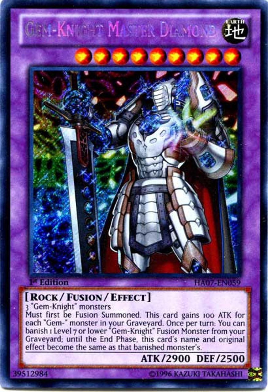 Yugioh Zexal Trading Card Game Hidden Arsenal 7 Knight Of Stars Single Card Secret Rare Gem Knight Master Diamond Ha07 En059 Toywiz