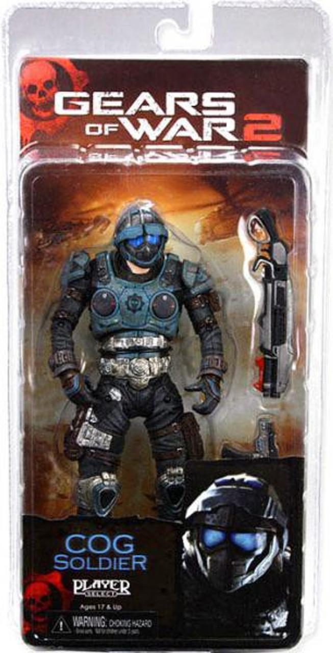 Shotgun /& Lancer NECA Gears of War 2 COG Soldier Action Figure