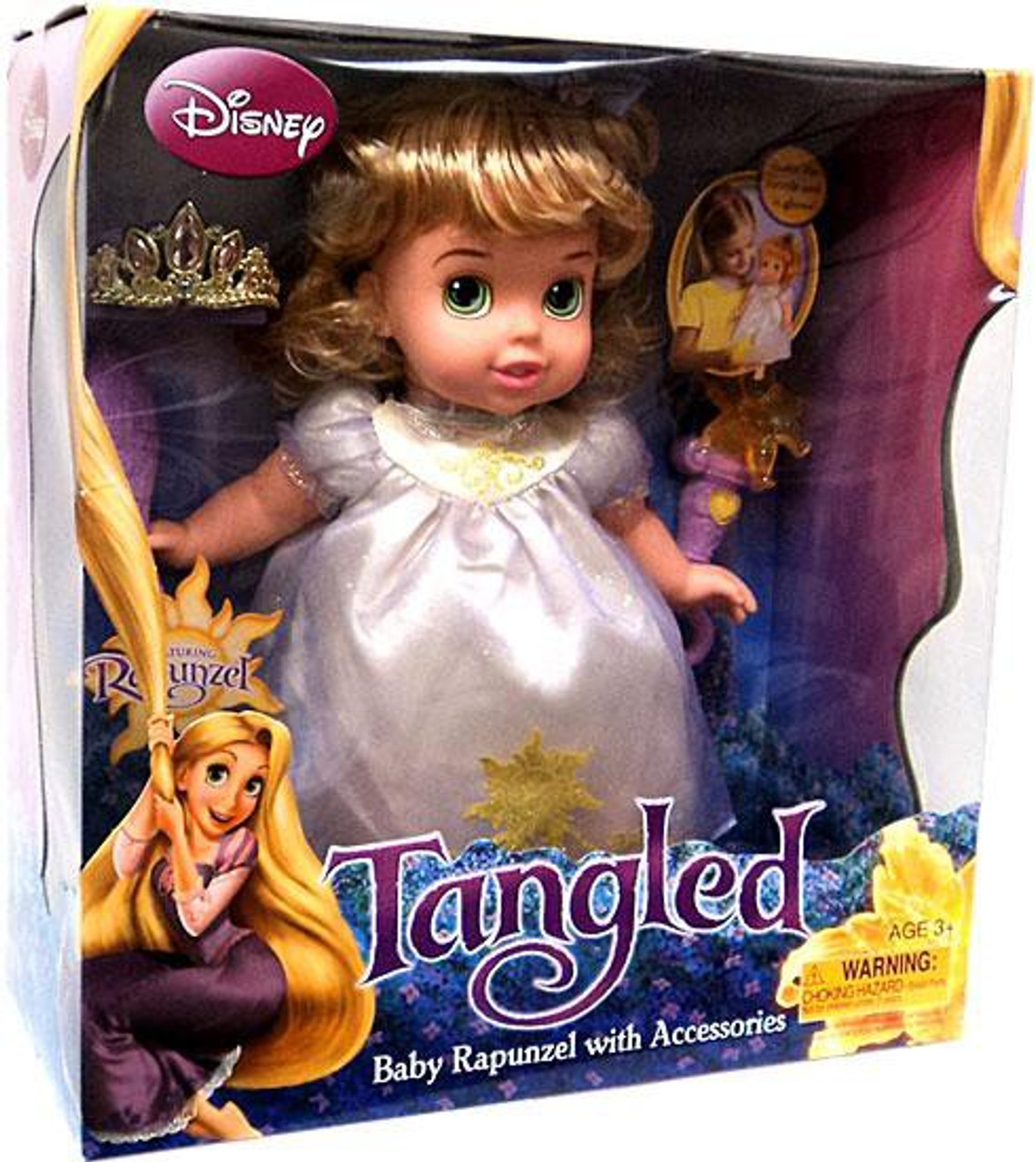 Disney Tangled Baby Rapunzel With Accessories Doll Toywiz