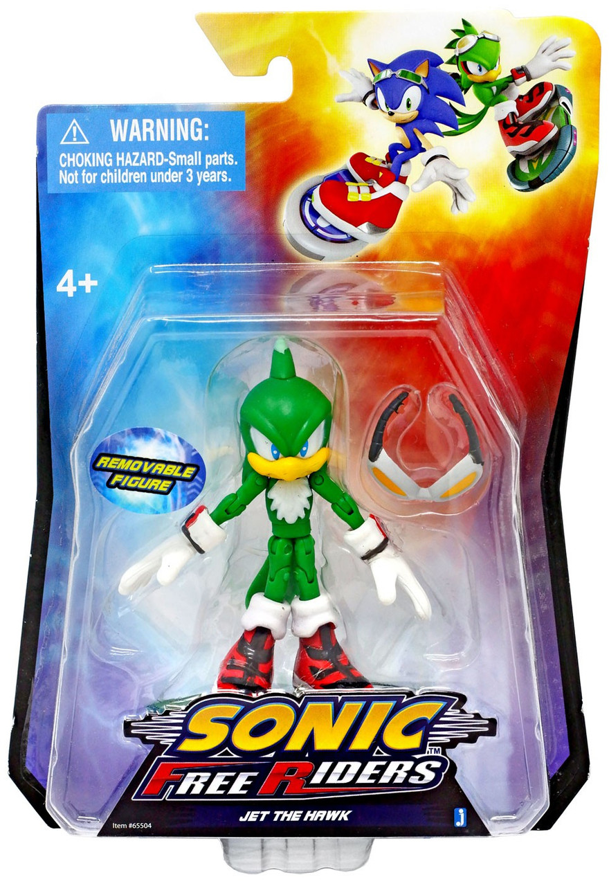 Sonic The Hedgehog Free Riders Jet The Hawk 3 5 Action Figure Jazwares Toywiz