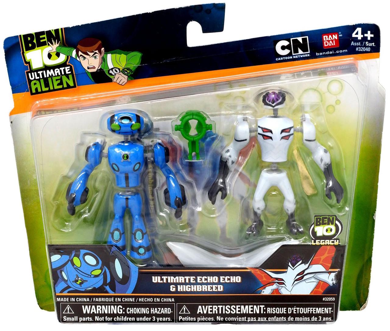 Ben 10 Alien Force Alien Creation Chamber Ultimate Echo Echo & Highbreed  Mini Figure 2-Pack