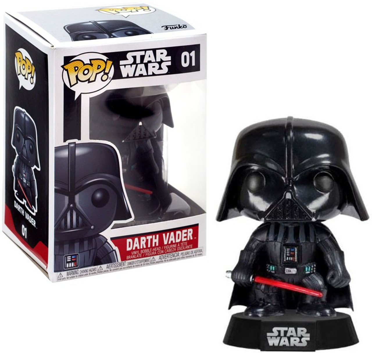 Star Wars Darth Vader Vinyl Bobble-Head Series 1 *Read Details* Funko Pop