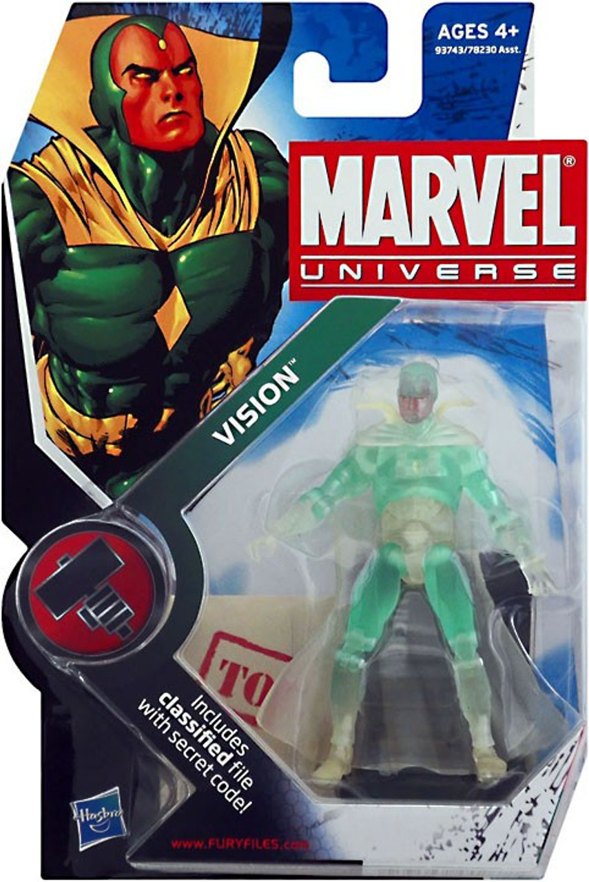 Marvel Universe 3 3//4 Inch Series 6 Action Figure #6 Vision Phasing Variant