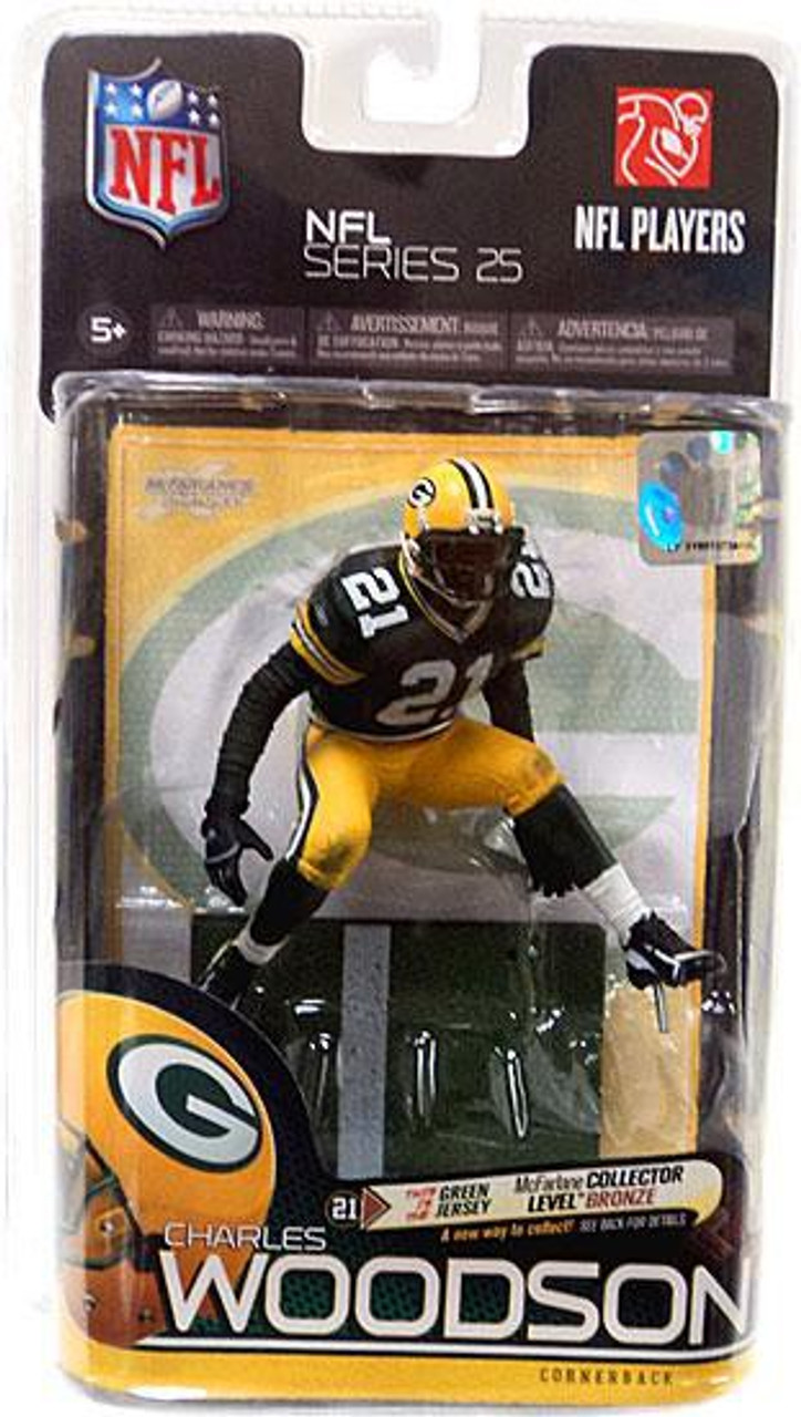 new product 9d820 5d356 McFarlane Toys NFL Green Bay Packers Sports Picks Series 25 Charles Woodson  Action Figure [Green Jersey]