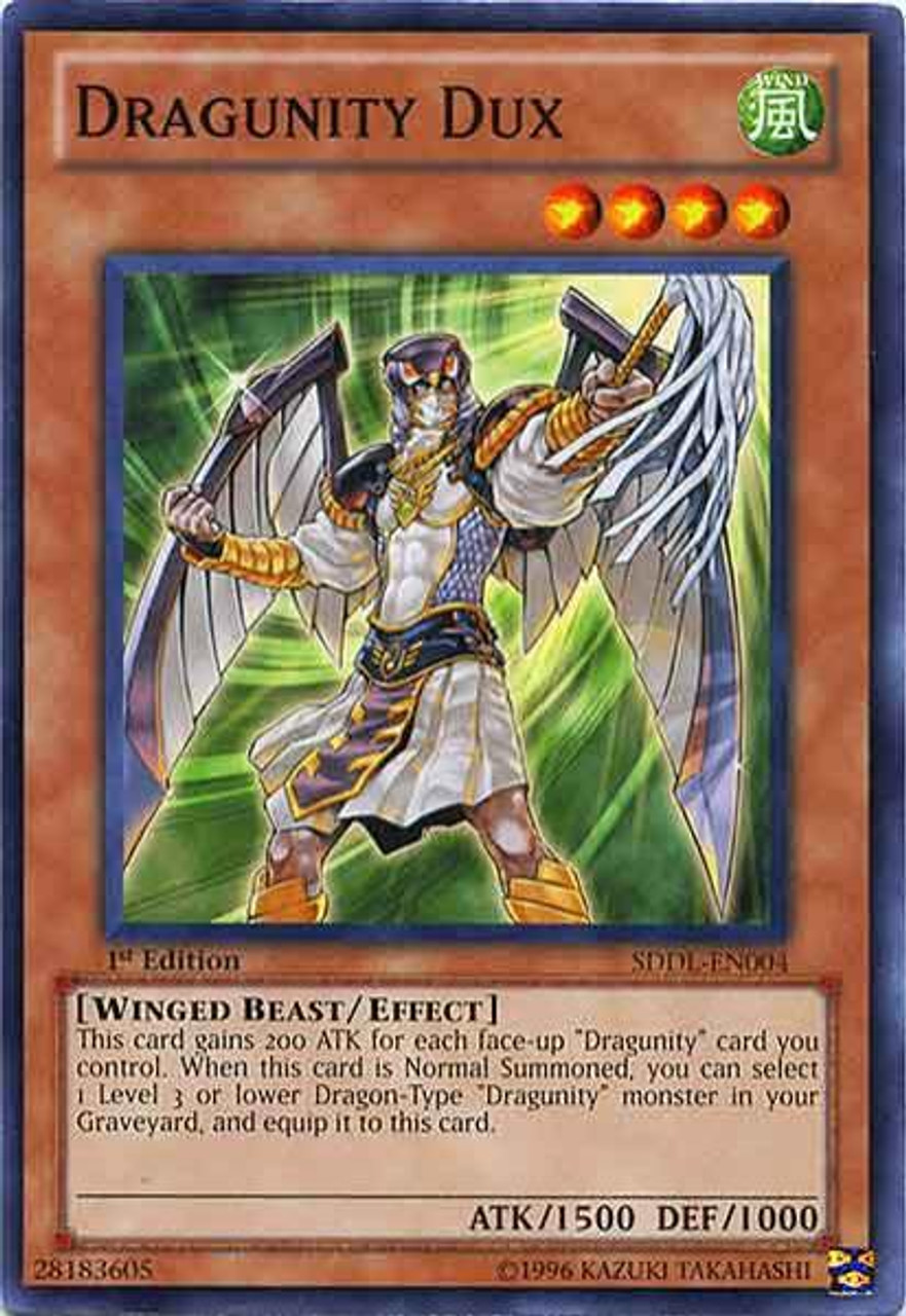 YUGIOH x 3 Dragunity Militum Common SDDL-EN008 1st Edition Near Mint