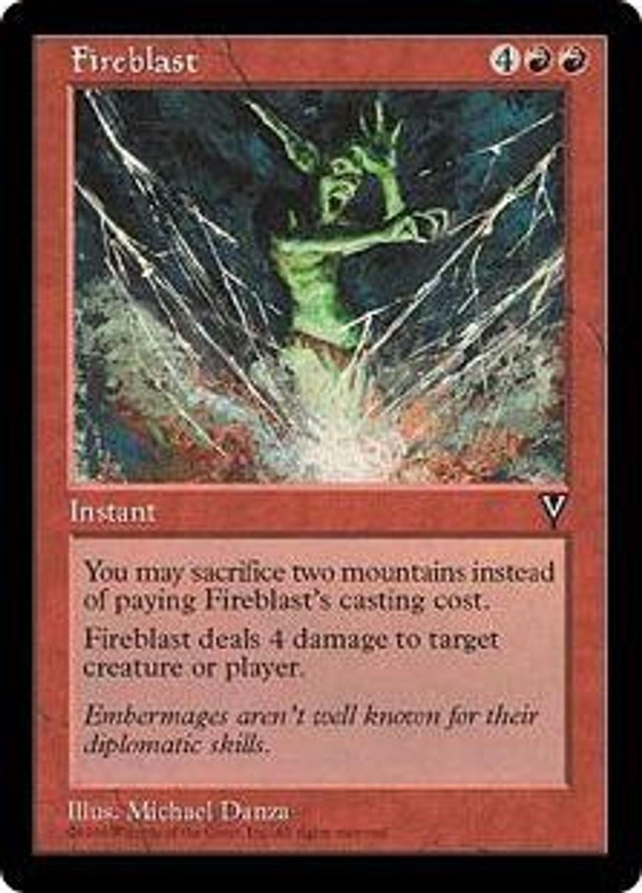 Magic MTG Fireblast ~ Visions NearMint
