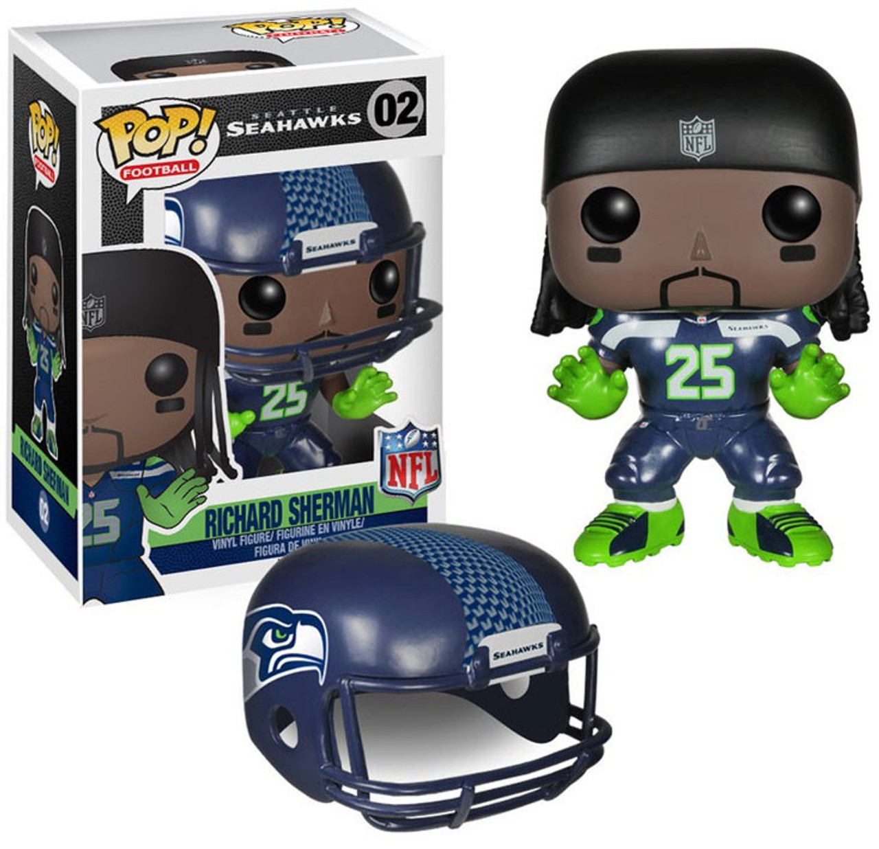 Seattle Seahawks Griffin Brothers Shaquill /& Shaquem 2 Pack Vinyl Figures Bundled with Pop Protector Pop NFL