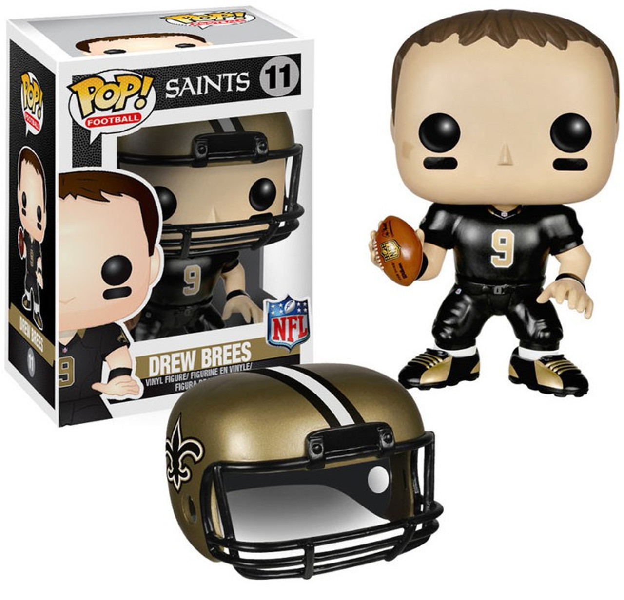 709845a9b61 Funko NFL New Orleans Saints Funko POP Sports Drew Brees Vinyl Figure 11  Black Jersey - ToyWiz