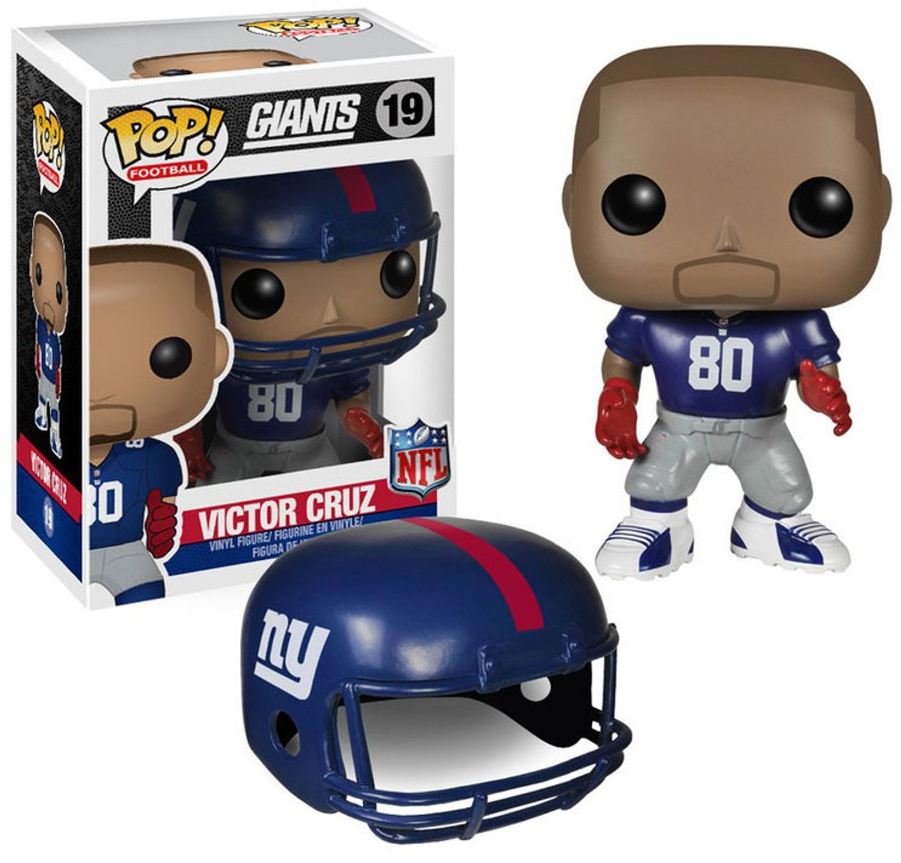 Funko NFL New York Giants Funko POP Sports Victor Cruz Vinyl Figure 19 Blue  Jersey - ToyWiz 740e21440