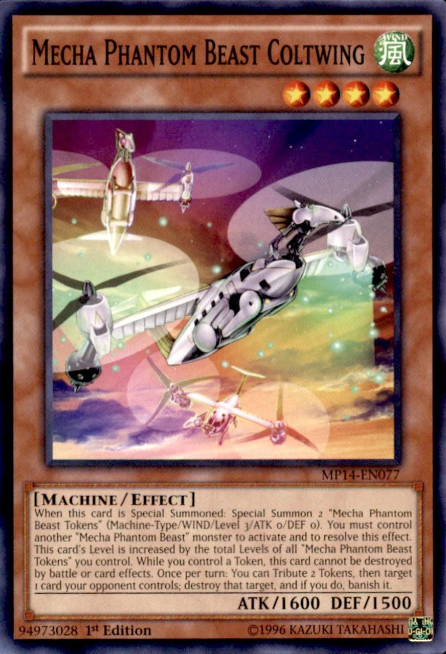 Mecha Phantom Beast Megaraptor MP14-EN007 X 3 Mint  1st  YUGIOH Super Rare