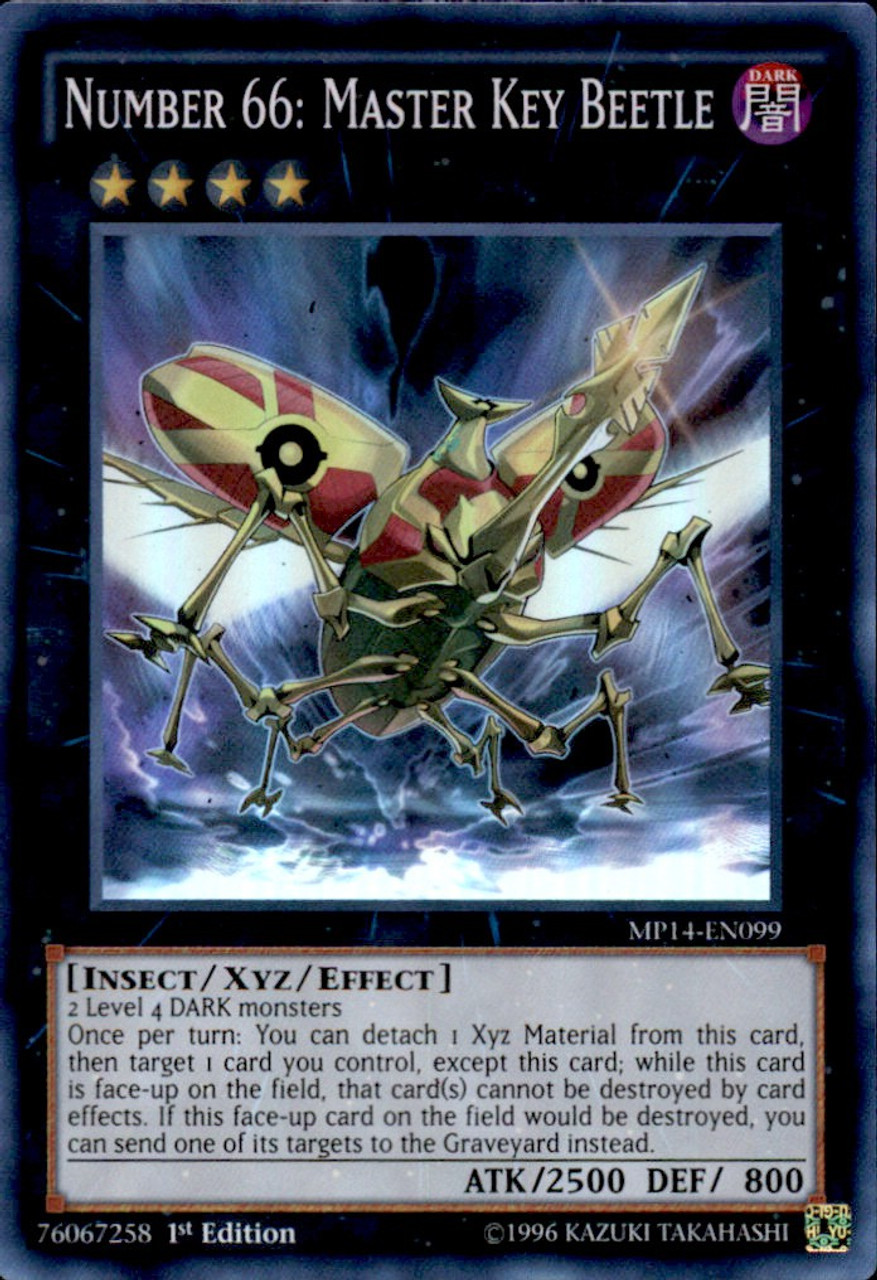 YuGiOh 2014 Mega Tin Super Rare Number 66: Master Key Beetle MP14-EN099