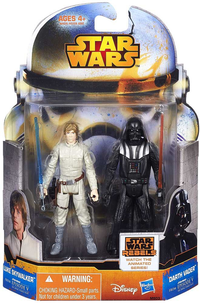 Star Wars Empire Strikes Back Mission Series Luke Skywalker Darth Vader 3 75 Action Figure 2 Pack Ms03 Hasbro Toys Toywiz