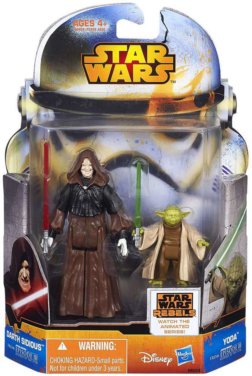 Star Wars Revenge Of The Sith Mission Series Darth Sidious Yoda 3 75 Action Figure 2 Pack Ms04 Hasbro Toys Toywiz
