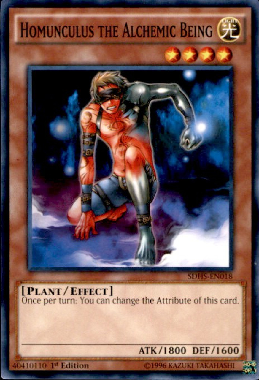 YuGiOh HERO Strike Structure Deck Common Homunculus the Alchemic Being  SDHS-EN018