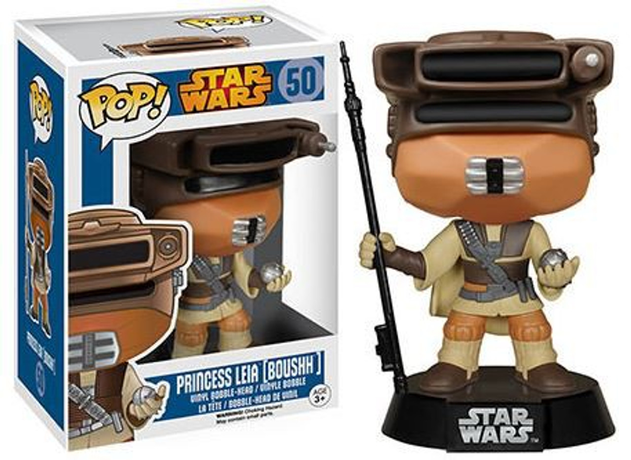 Funko Star Wars Return Of The Jedi Pop Star Wars Princess Leia Vinyl Bobble Head 50 Boushh Toywiz