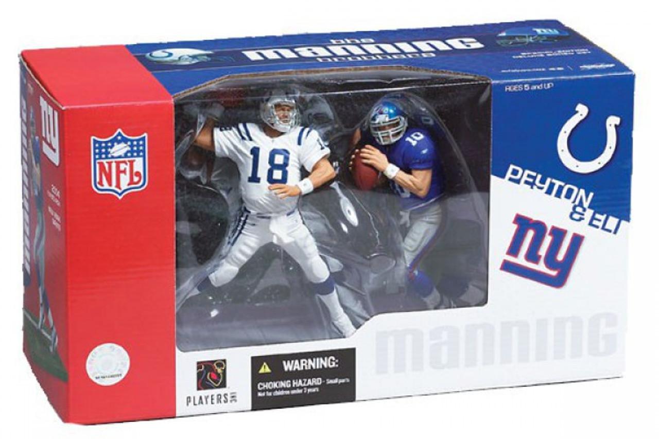 McFarlane Sports NFL Peyton Manning versas Eli Manning  2 Figure Pack Box Set