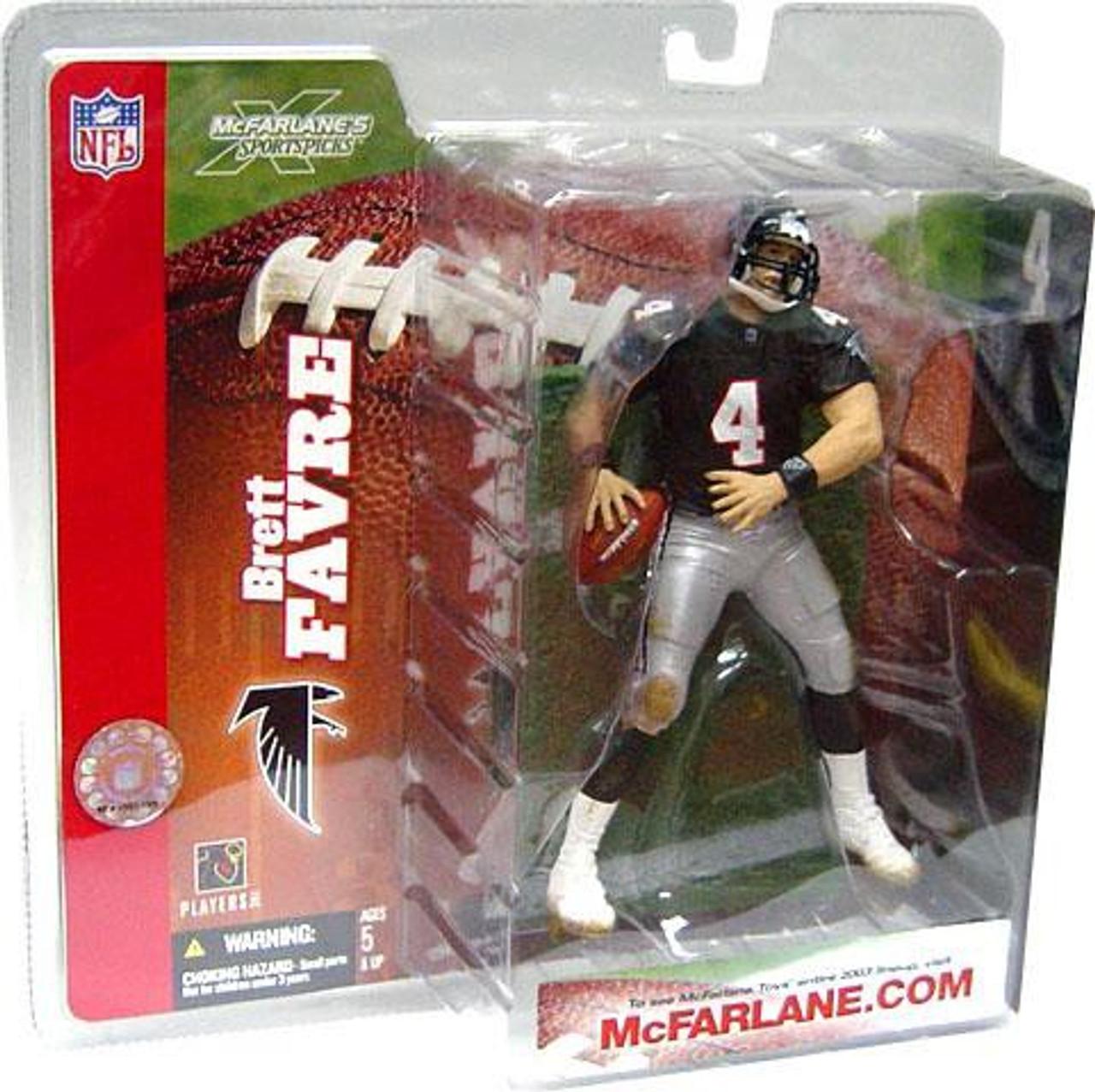 100% authentic 24065 da387 McFarlane Toys NFL Atlanta Falcons Sports Picks Series 6 Brett Favre Action  Figure [Retro Jersey No Handwarmers]