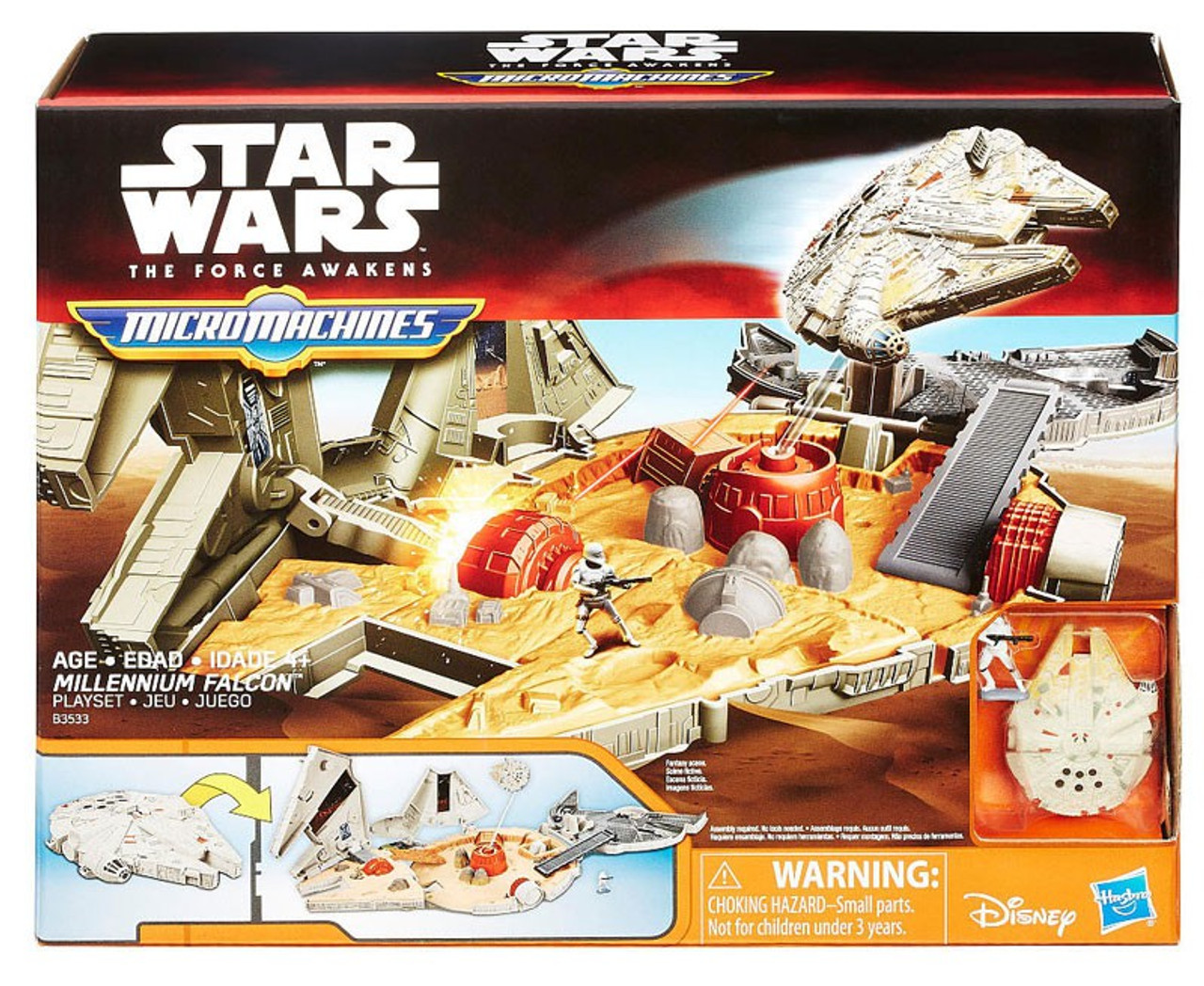 STAR WARS A NEW HOPE MICRO MACHINES 3-PACK IMPERIAL PURSUIT TOYS BRAND NEW