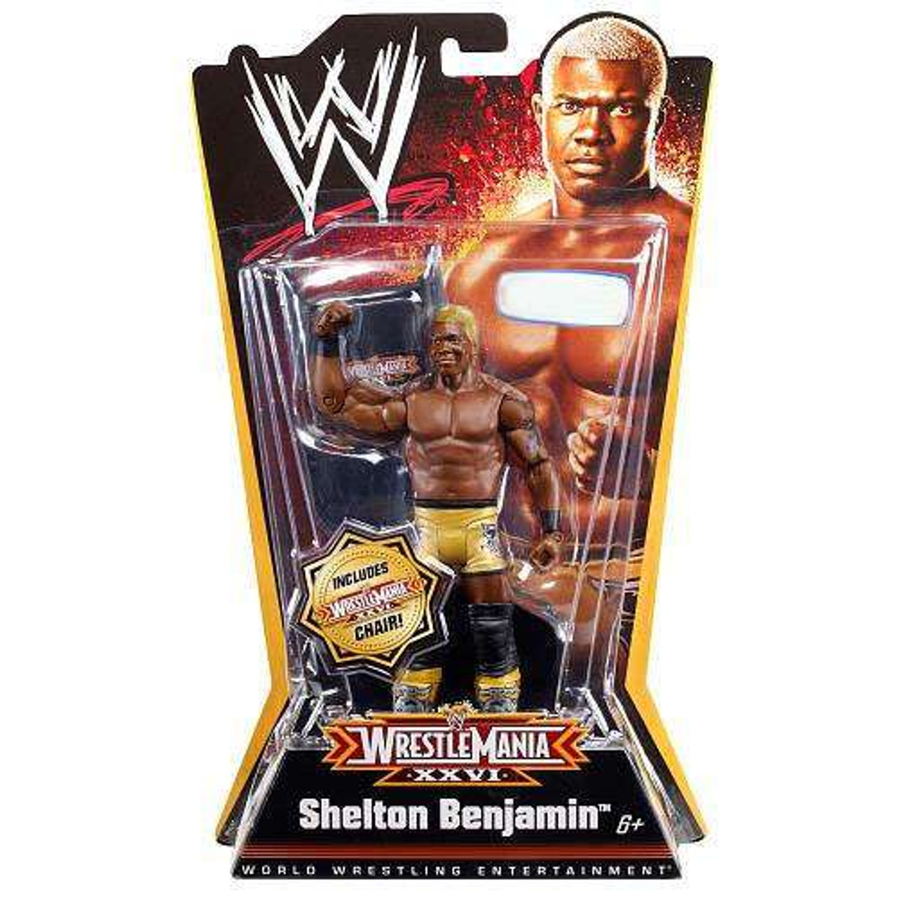 Wwe Wrestling Wrestlemania 26 Shelton Benjamin Exclusive Action