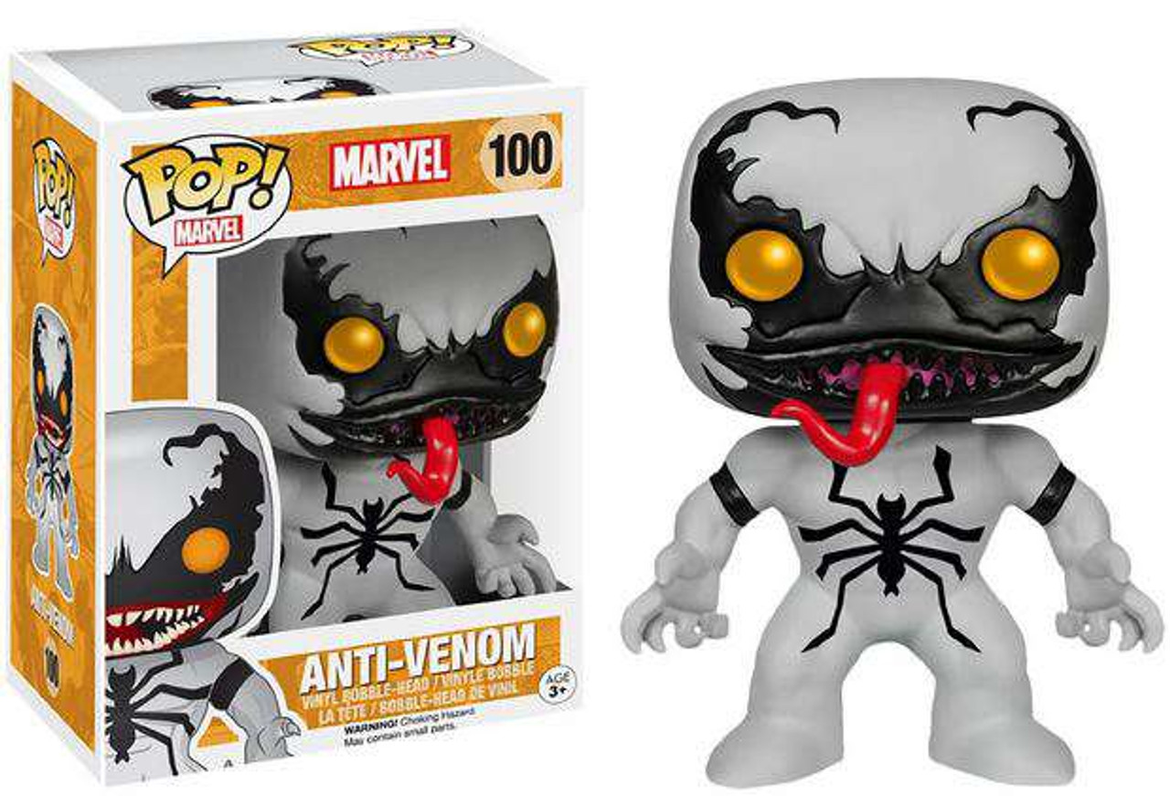 9f2e605190d Funko Marvel Spider-Man Funko POP Marvel Anti-Venom Exclusive Vinyl Bobble  Head 100 - ToyWiz