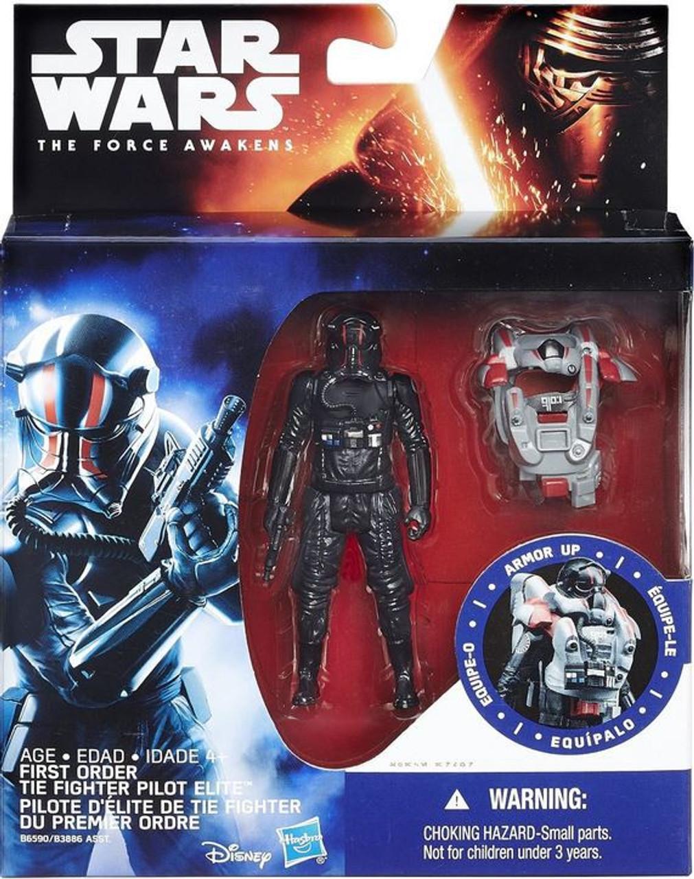 Kylo Ren /& Tie Pilot Figure Star Wars The Force Awakens Tie Fighter Ship//Figure