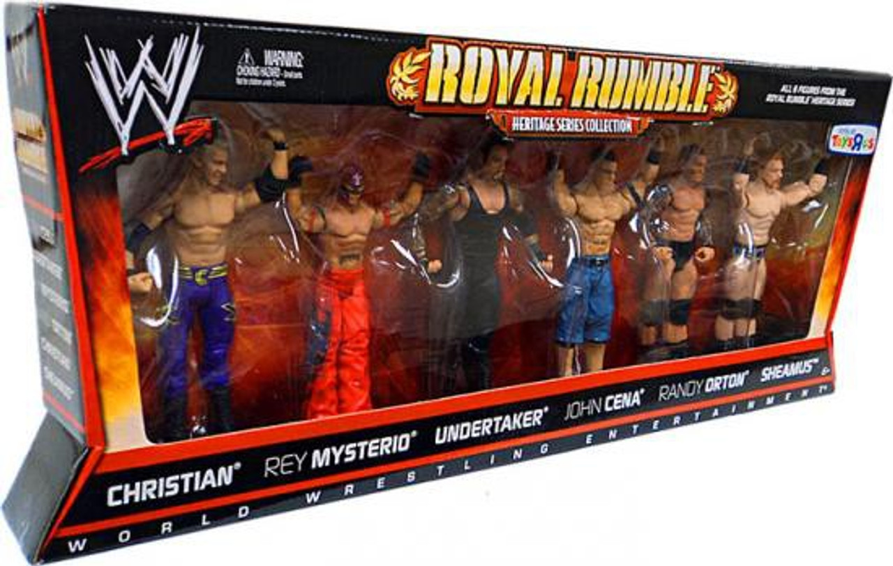 WWE Basic 6 Superstar Figures Mysterio Undertaker Rock Cena Sheamus /& Del Rio