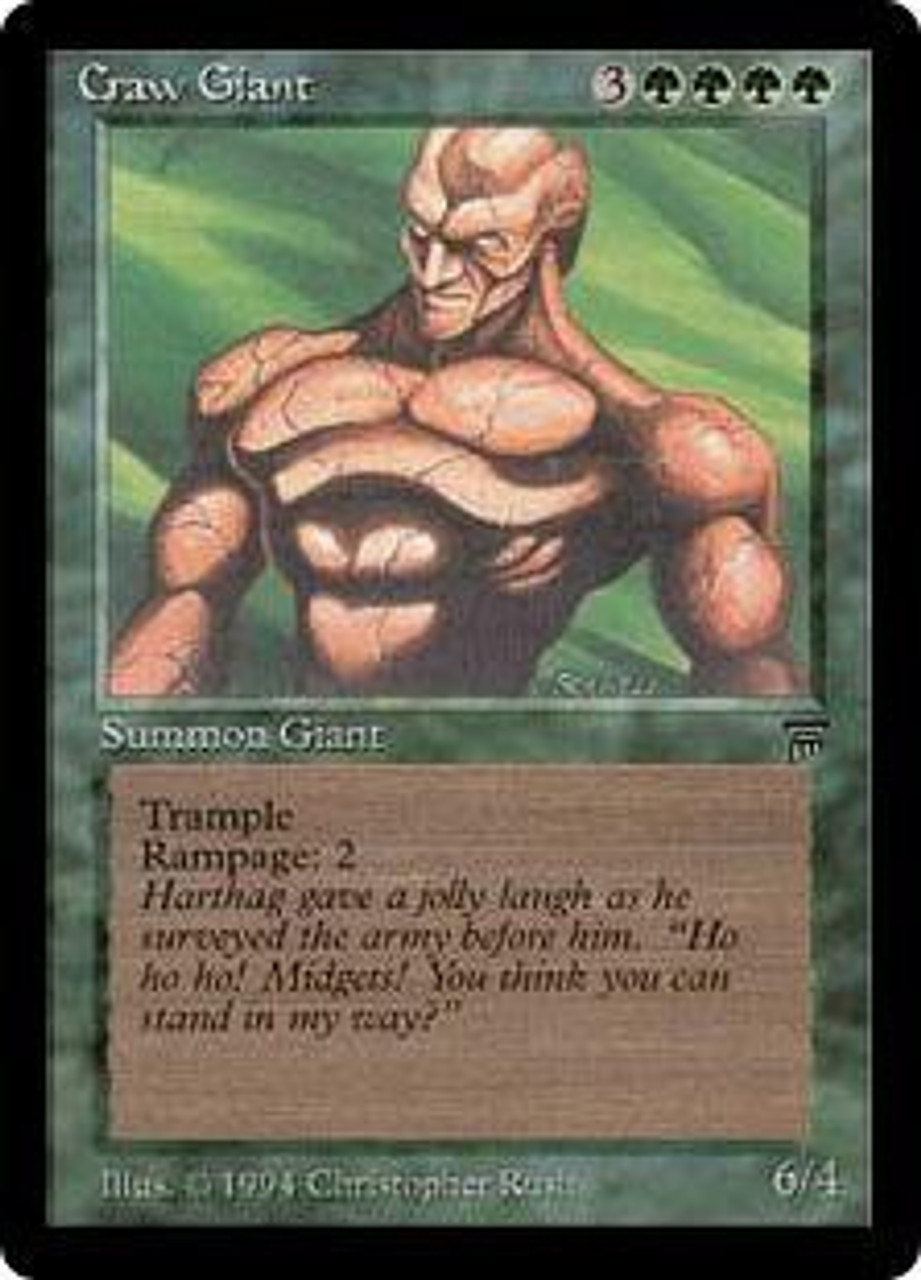 Magic The Gathering Legends Single Card Uncommon Craw Giant - ToyWiz