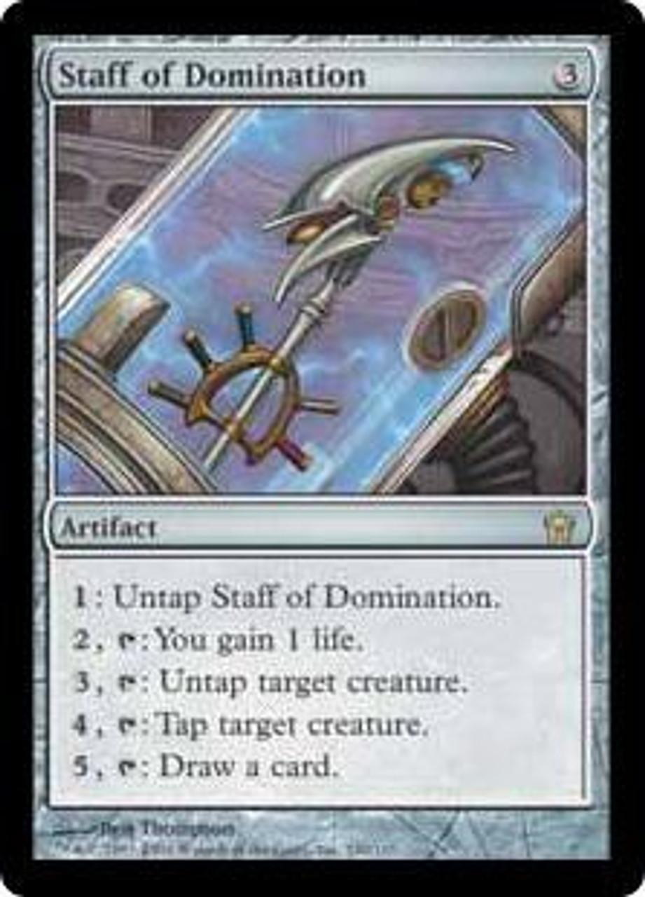 Rare Fifth Dawn Magic//mtg Staff of Domination