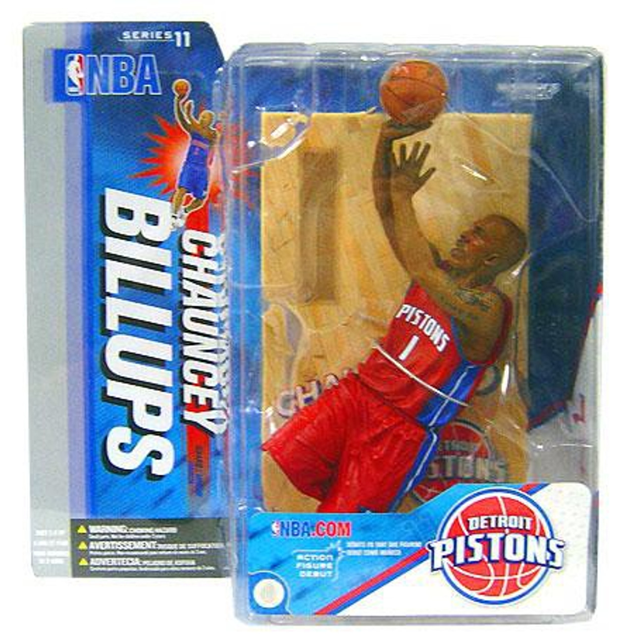 sneakers for cheap a1ba6 67953 McFarlane Toys NBA Detroit Pistons Sports Picks Series 11 Chauncey Billups  Action Figure [Red Jersey Variant]