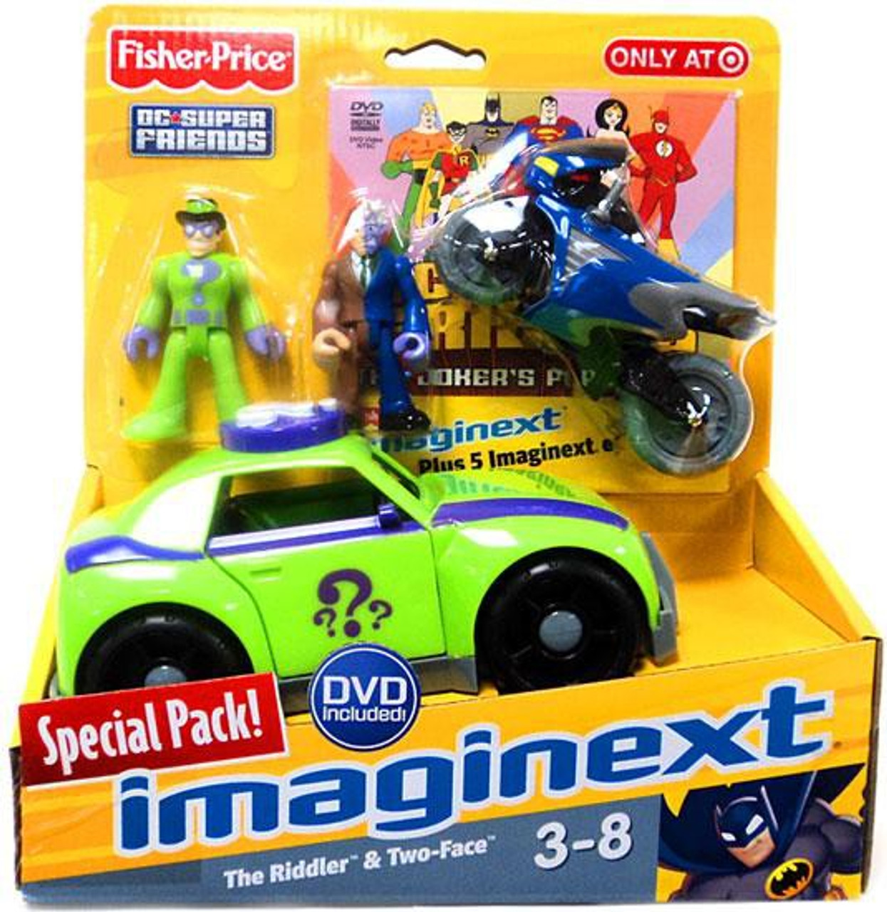 DC Super Friends Imaginext The Riddler Hot Rod Figure Set ... |Imaginext Riddler
