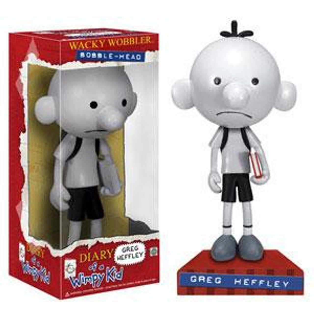 Funko Diary Of A Wimpy Kid Wacky Wobbler Greg Heffley Bobble Head Toywiz