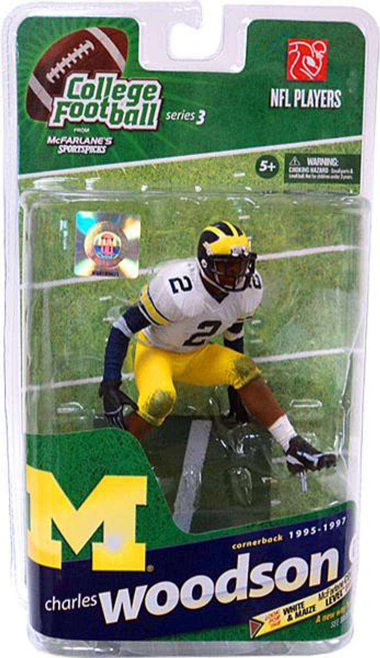 online retailer dbb24 fb456 McFarlane Toys NCAA College Football Sports Picks Series 3 Charles Woodson  Action Figure [White Jersey]