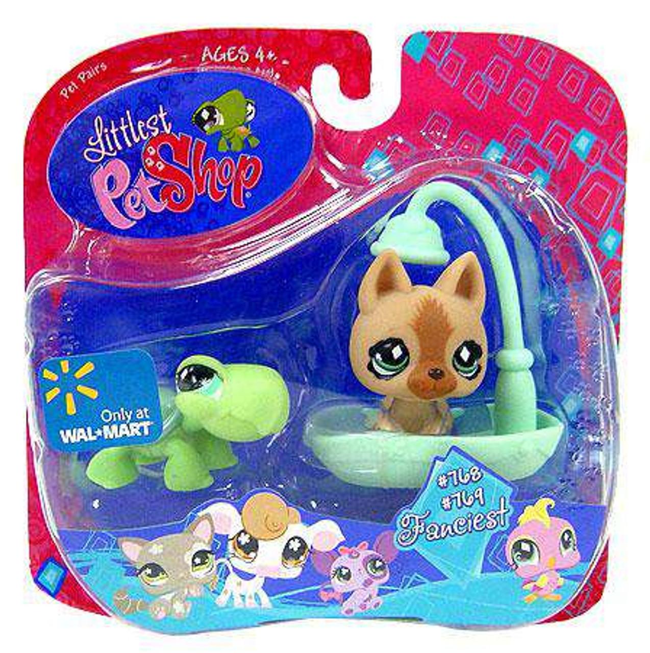 Littlest Pet Shop Fanciest Pet Pair Turtle Brown German Shepard Figure 2 Pack Hasbro Toys Toywiz