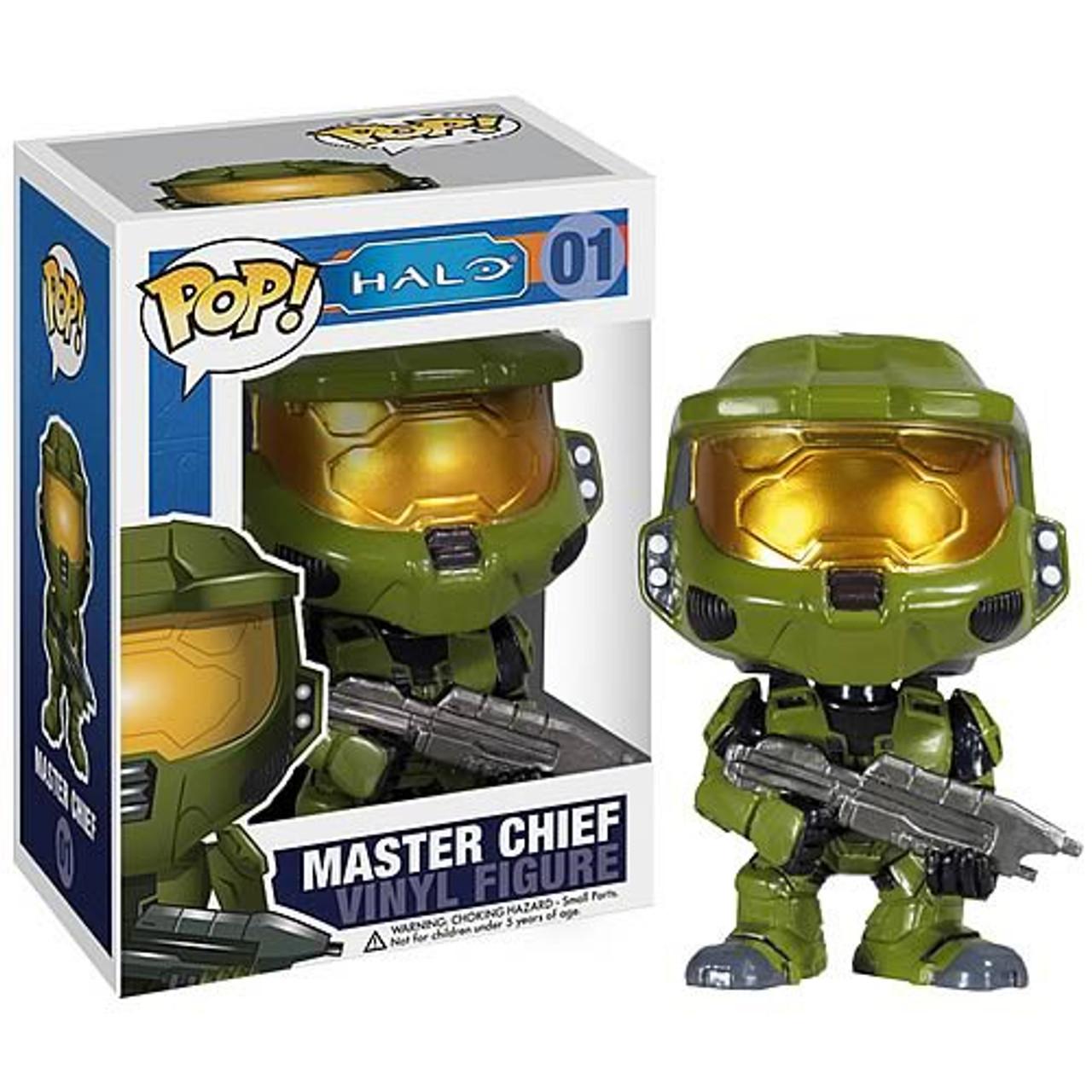 Halo Universe Funko POP! Halo Master Chief Vinyl Figure #01 [Light Green  Armor]