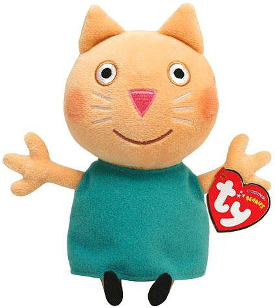 d7ca9f6d1a8 Beanie Babies Peppa Pig Candy Cat Exclusive Beanie Baby Plush Ty - ToyWiz