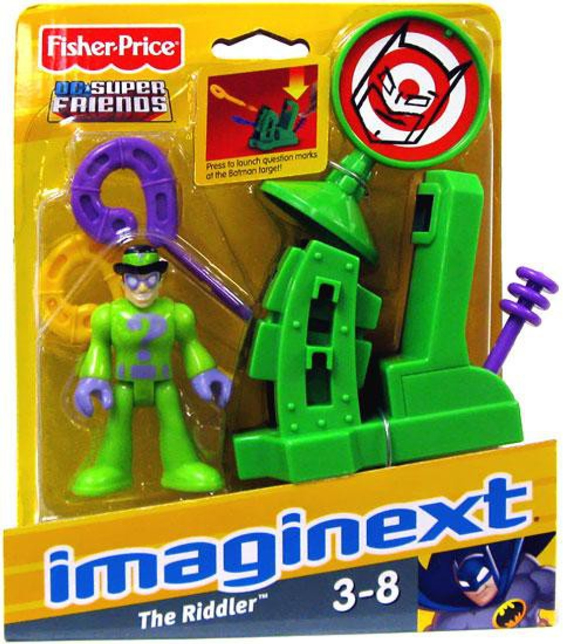 Fisher Price DC Super Friends Imaginext The Riddler Two ... |Imaginext Riddler