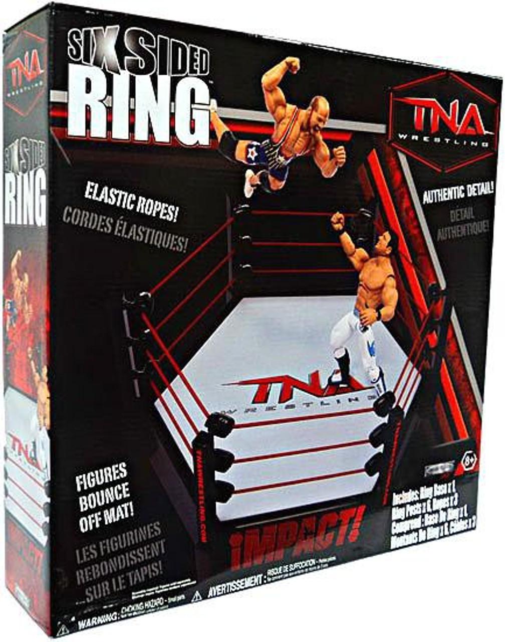 Tna Wrestling Playsets Six Sided Ring Action Figure Playset Jakks