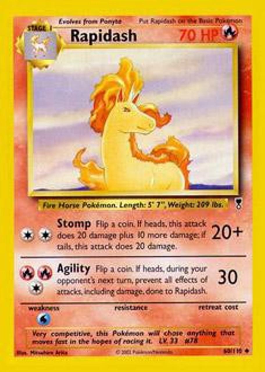 Pokemon Legendary Collection Single Card Uncommon Rapidash 60 Toywiz