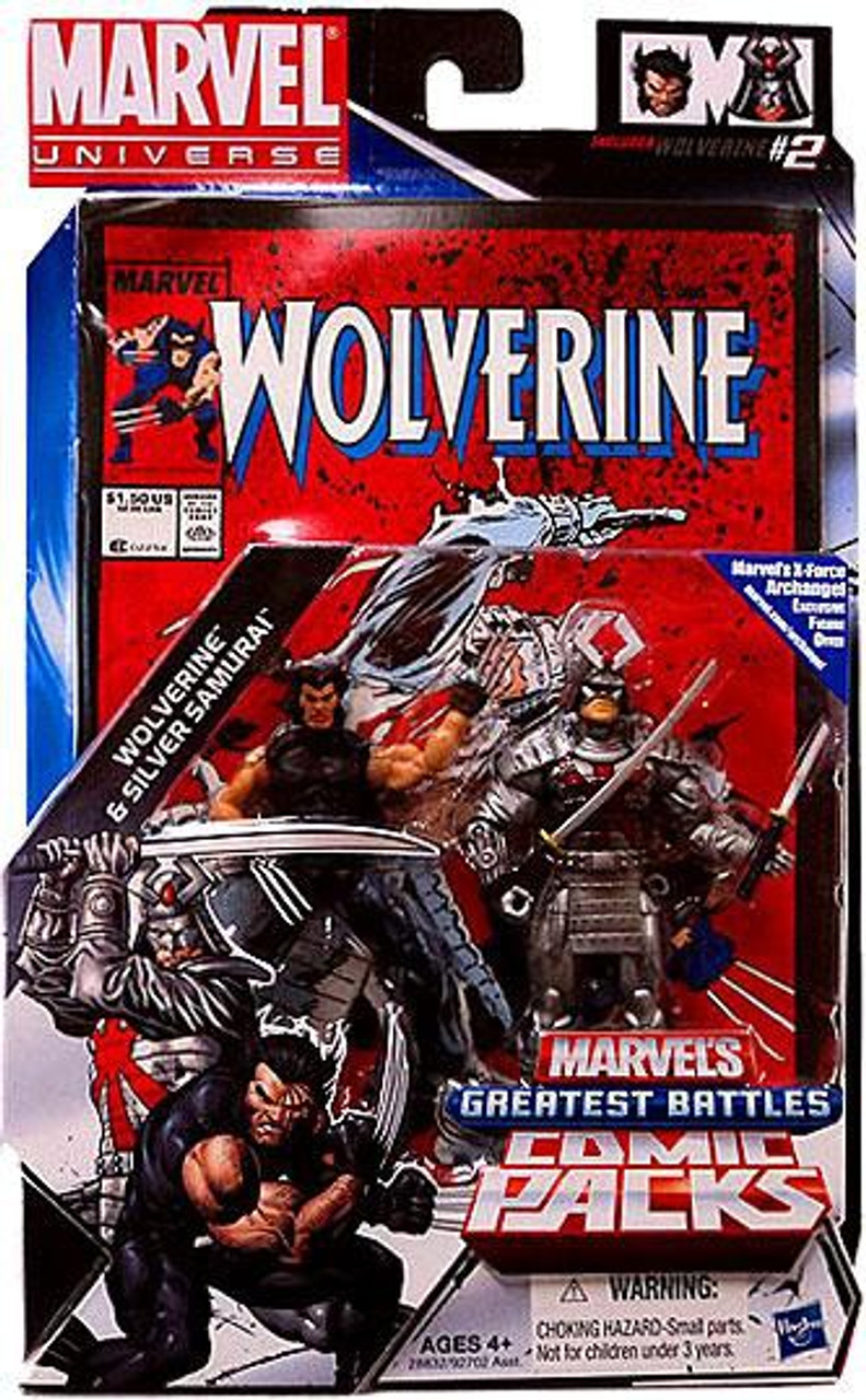 Marvel Universe Marvels Greatest Battles Comic Packs Wolverine Silver Samurai Action Figure 2 Pack Hasbro Toys Toywiz