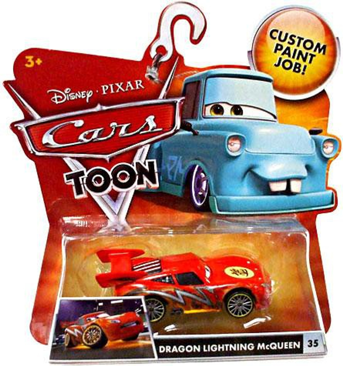 Dragon Rayo Mcqueen-Nuevo Mattel-Disney Cars mejor de Toons Die Cast